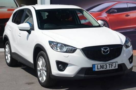 Used 2013 (13 reg) White Mazda Cx-5 2.2d Sport Nav 5dr for sale on RAC Cars