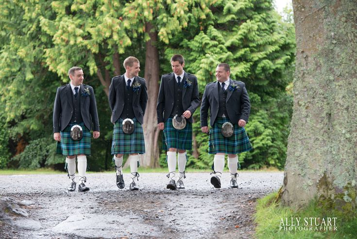groom and bestman and ushers atholl palace