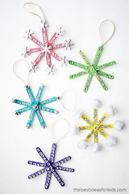 Popsicle Stick Snowflake