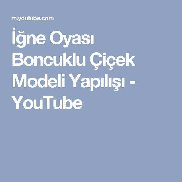 İğne Oyası Boncuklu Çiçek Modeli Yapılışı - YouTube
