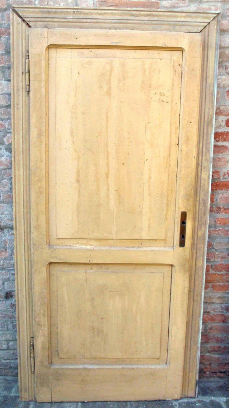 coppia porte antiche del 39 900 ad un anta in larice massiccio con stipite ebay doors On porte antiche prezzi
