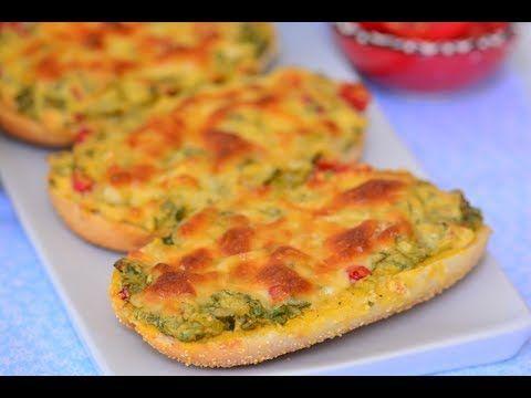 Börek Tadında Peynirli Ekmek Nasıl Yapılır ( 3 dakika Tarifleri) - YouTube