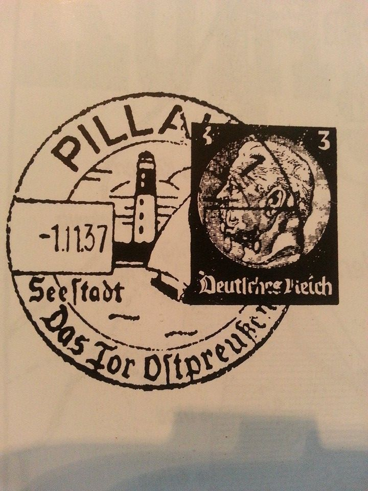 PILLAU 1.11.37 SEESTADT DAS TOR OSTPREUSSEN