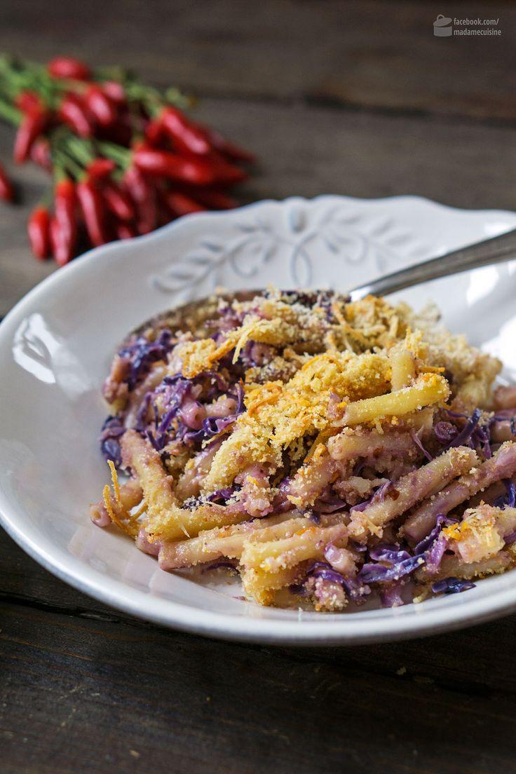 Makkaroni mit Käse, Rotkohl & Chili-Kruste | Madame Cuisine Rezept