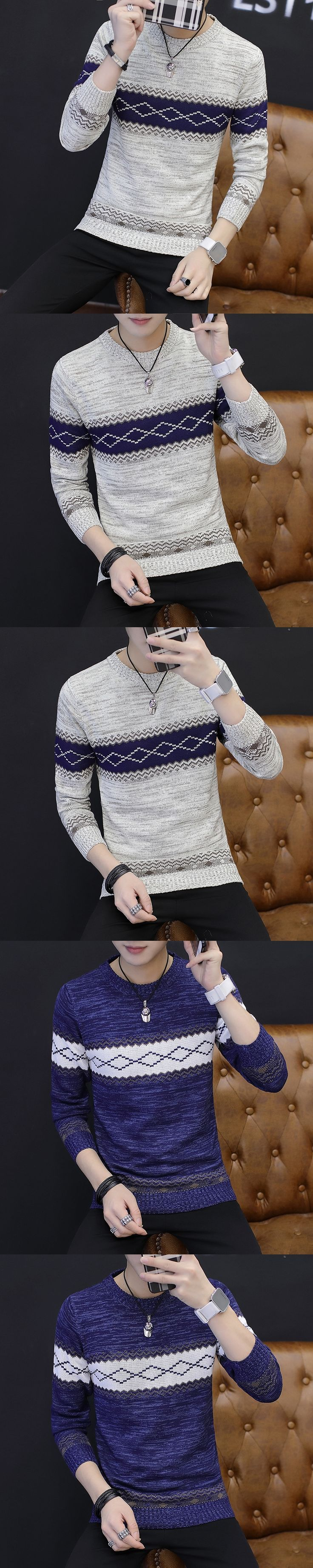 Pullover Male Mens Knitted Vests Diamond Pattern Sweater Men Sweaters Knitting Striped For 2017 Jumper Casual Social Vest m688
