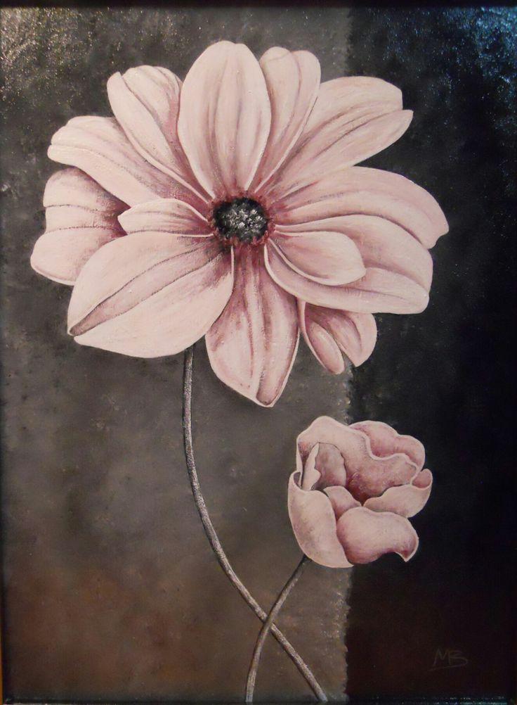 Fiore rosa con bocciuolo  Copia 30x40cm