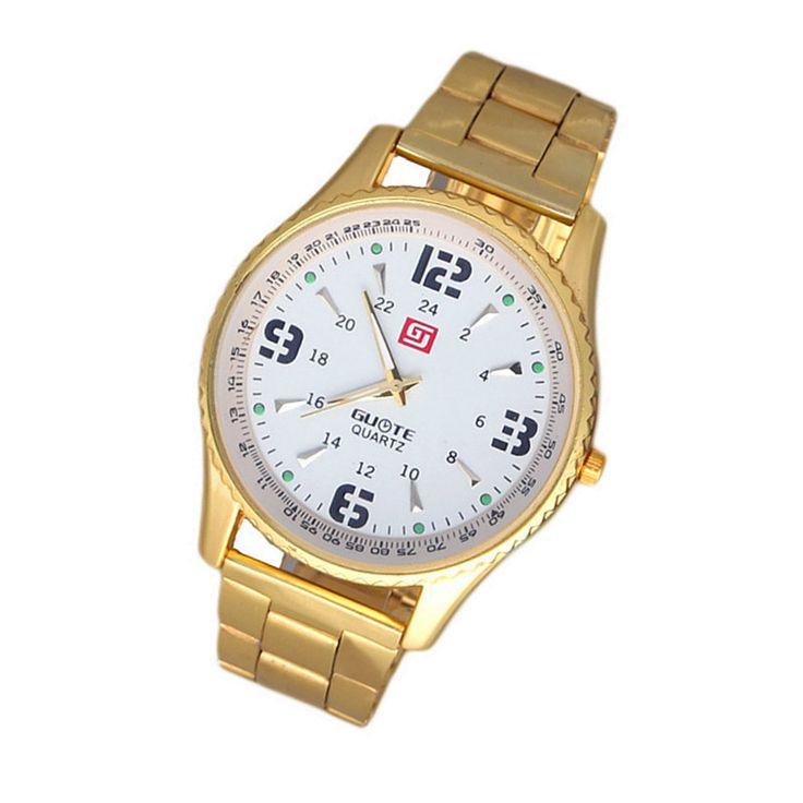 Роскошные Золотые Часы Мужчины Полный Стальные Бизнес Наручные Часы Мужчины Роскошные Платья Часы Relogio Masculino 759