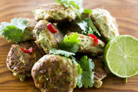 Thai Fish Cakes with Dipping Sauce.  Spice up your seafood for Easter!  Gluten free and dairy free. http://www.foodgloriousfriendlyfood.com/1/post/2013/03/thai-fish-cakes-and-dipping-sauce.html