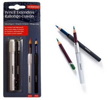 KRESBA   Barevné pastelky a tužky   2 držáky na pastelky a tužky Derwent   VÝTVARNÉ POTŘEBY - WWW.ARTIES.CZ