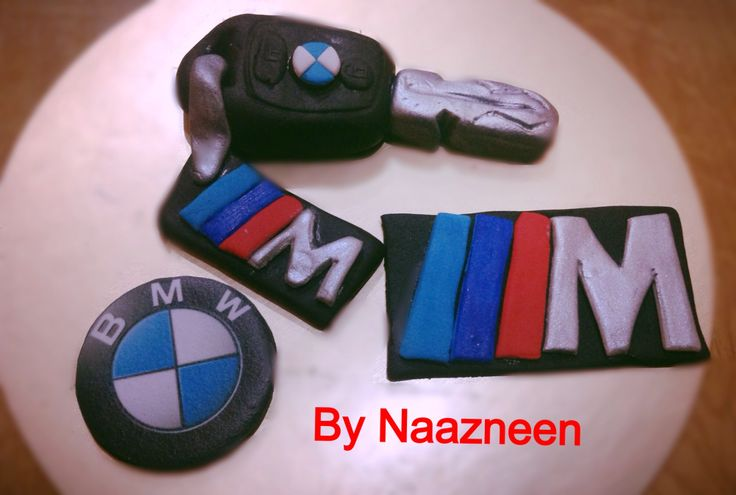 BMW cake toppers by Naazneen