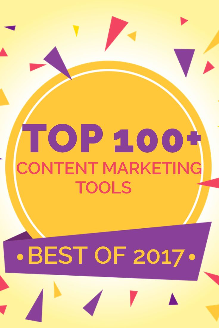 Top 100 Content Marketing Tools