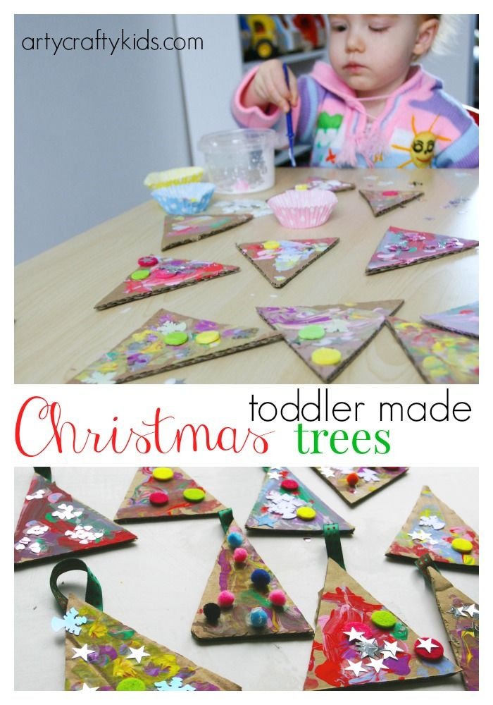 Arty Crafty Kids - Craft - Craft Ideas for Kids - Toddler Christmas Trees