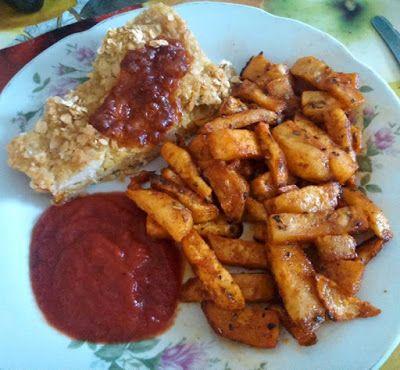 Csirkemell zabbundában sült zellerrel és házi ketchuppal ~ Éhezésmentes Karcsúság Szafival