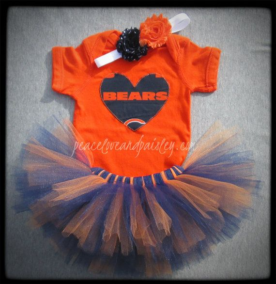 Chicago Bears Tutu, Bodysuit and Headband Set Made from Chicago Bears Fabric on Etsy, $34.00