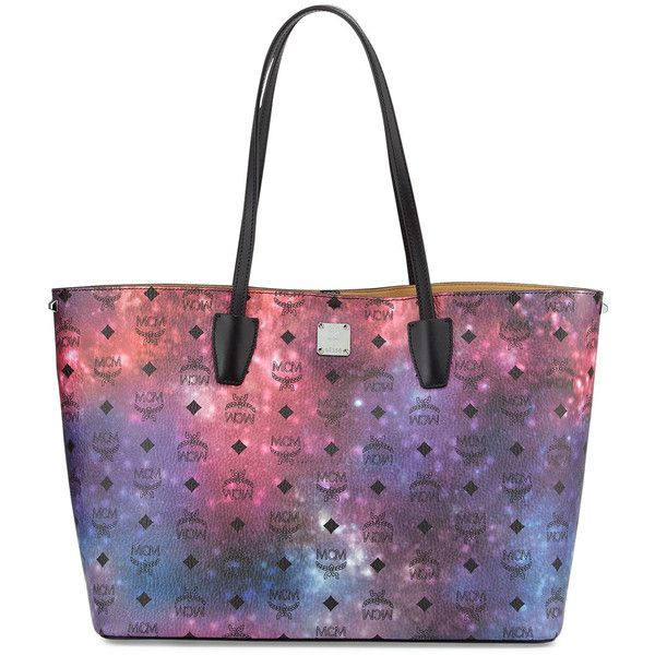 MCM Galaxy Visetos Medium Tote Bag (7.645 ARS) ❤ liked on Polyvore featuring bags, handbags, tote bags, galaxy multi, shoulder strap handbags, mcm tote, medium tote bag, white handbags and coated canvas tote