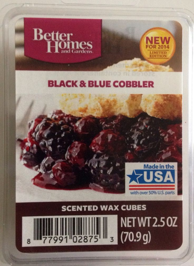 Better homes and gardens black blue cobbler wax melts products i love pinterest gardens for Better homes and gardens wax melts