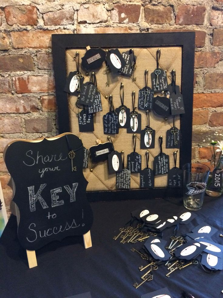 "Grad party ""Keys to Success"" table"