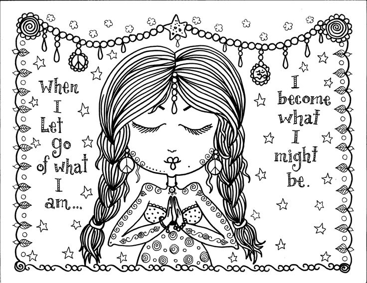 Coloring Pages Chubby Mermaid On Etsycom When I Let Go Of What Am