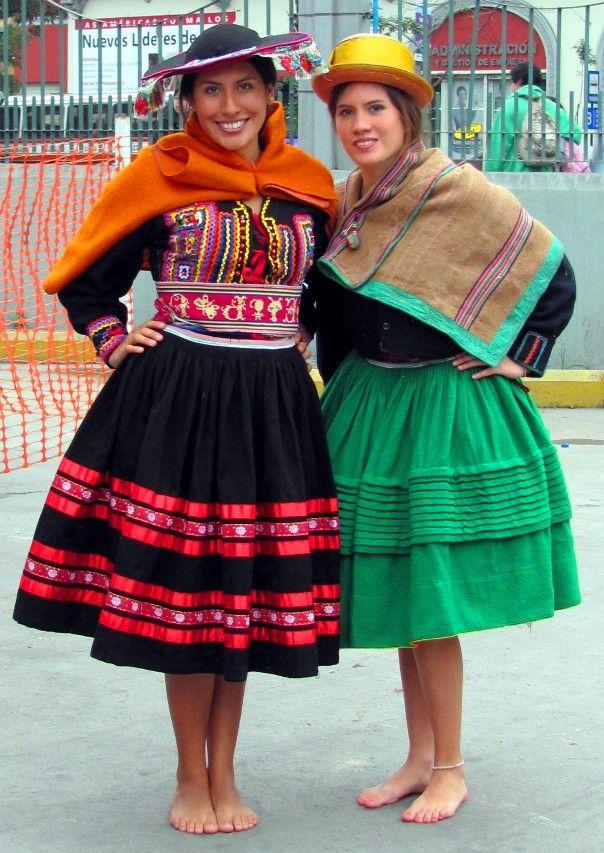 TRAJES TIPICOS DEL PERU Traditional Peruvian Dresses sierra de peru
