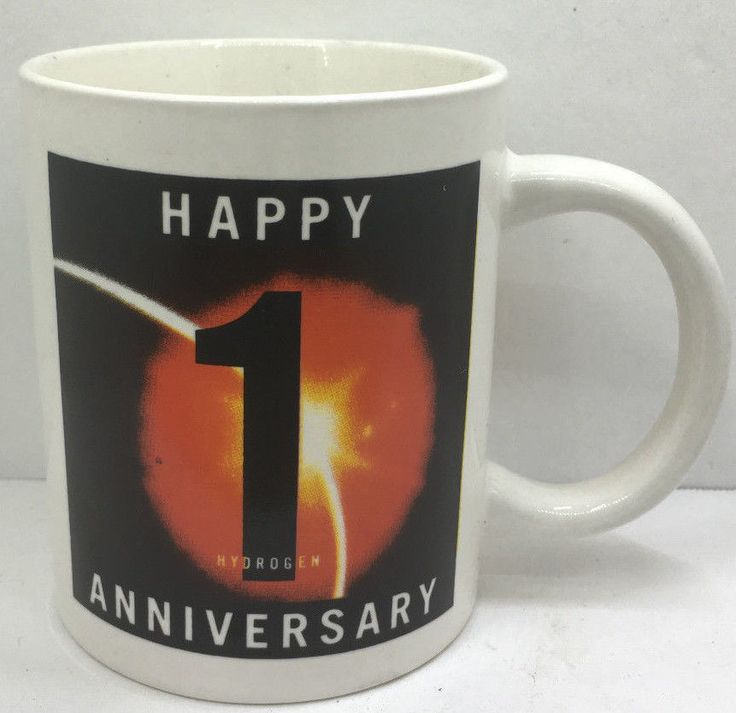 1 Year Anniversary ACS American Chemical Society Hydrogen Element Mug First  | eBay