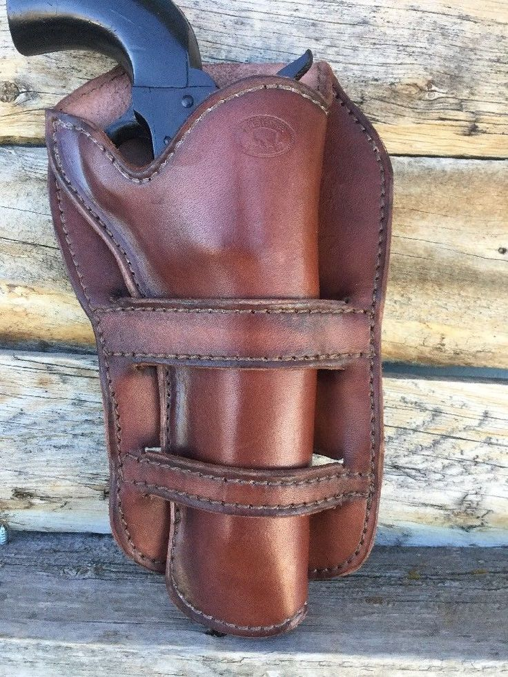 """Leather Western Cowboy Holster For 5 1/2"""" Single Action Revolver, US Made (716)  