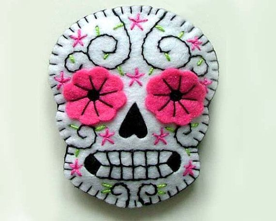 Mexican Wedding Boutonnieres Sugar Skulls by TheDollCityRocker, $15.00