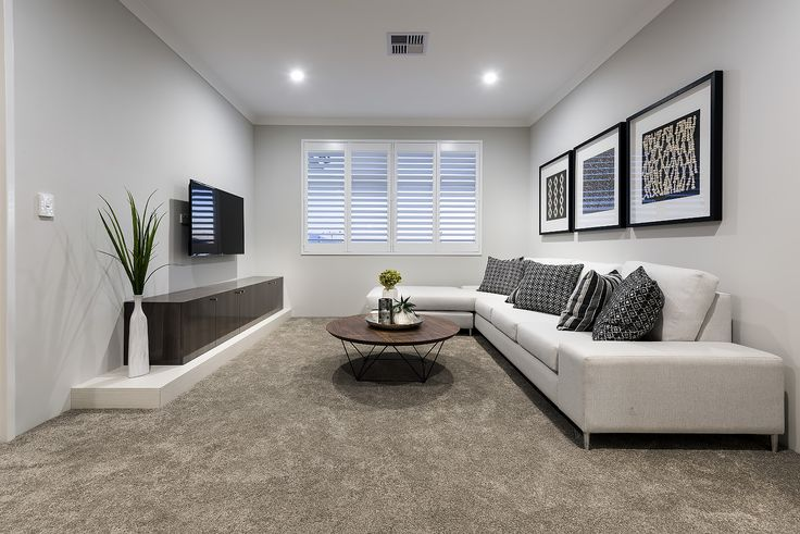 Magnificent open plan living areas © Ben Trager Homes | On display in Perth