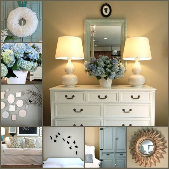 I love the idea of a painted white dresser in the living room. It would be so great for storage and I think it looks so pretty.
