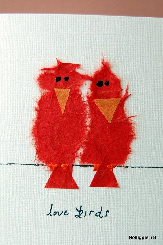 10 best images about Cards – Bird Valentine Card