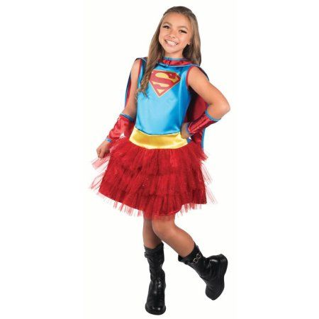 Rubies Child Supergirl Costume, Girl's, Size: L (10-12), Multicolor