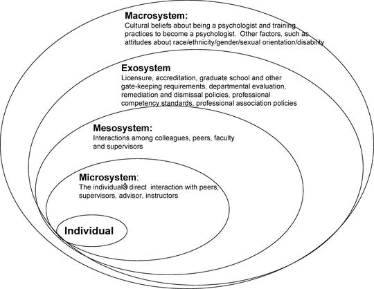 The diagram shows Brofenbrenner's Social Ecological Model. It illustrates what each level entails.