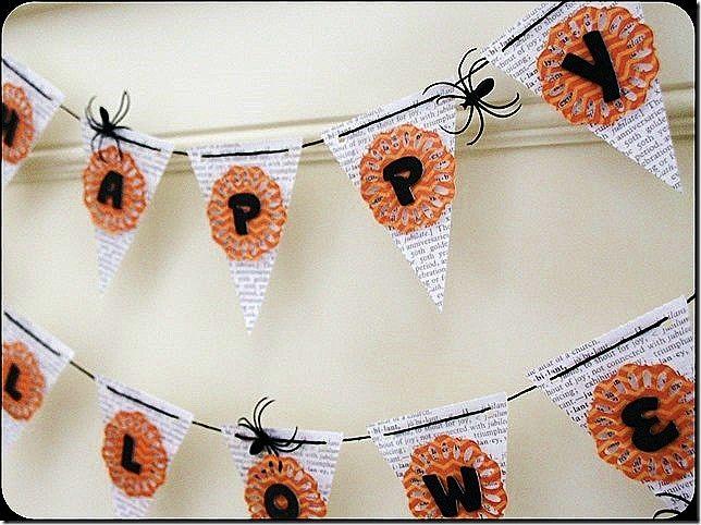 Craftwell Design Team: Halloween banner #americancrafts #ebosser #halloweendecor #diy