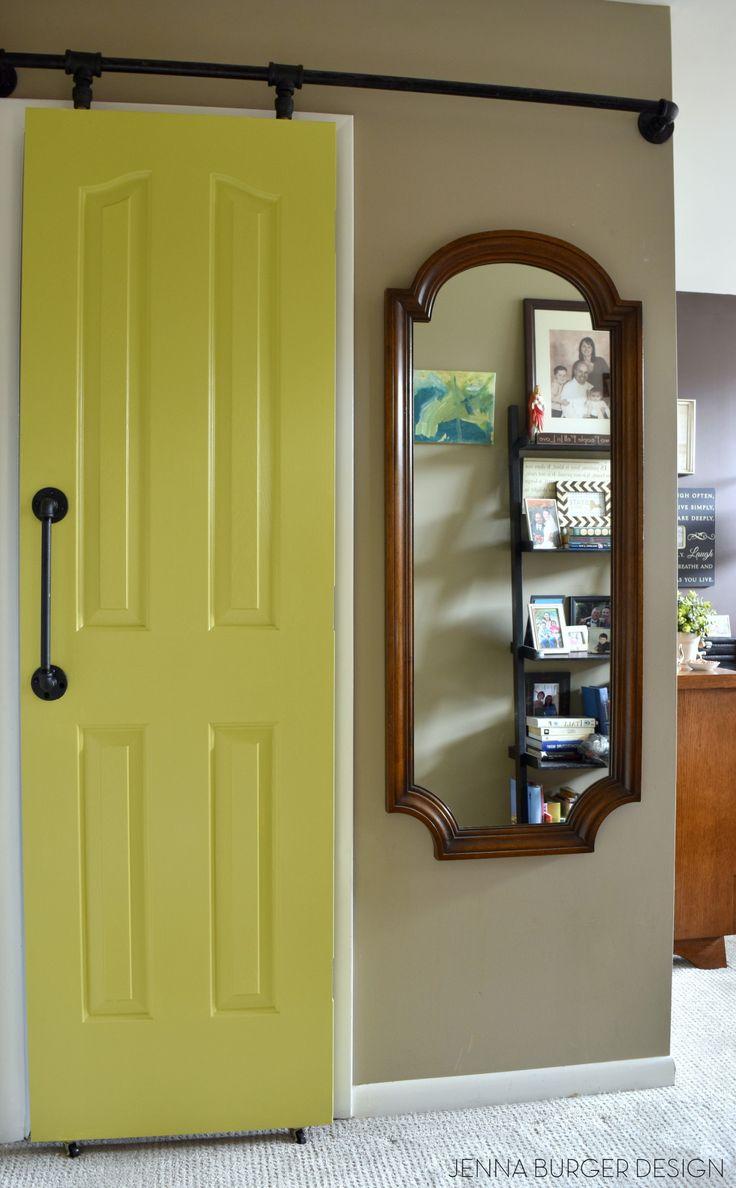 DIY: Rolling door hardware using plumbing pipe. Get the look + function of a