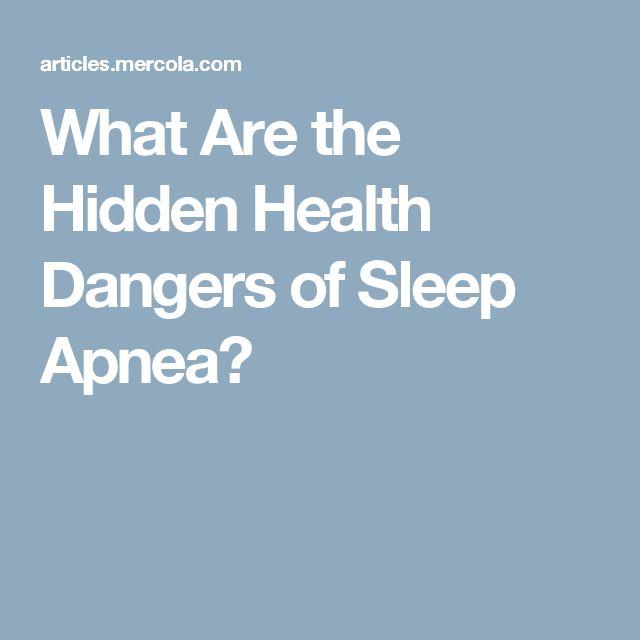 What Are the Hidden Health Dangers of Sleep Apnea?