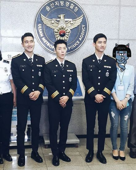 Instagram] 160524 Changmin with Siwon and Donghae Uni at Ulsan ...