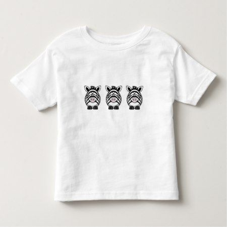 Cute Zebra Toddler T-shirt - click/tap to personalize and buy