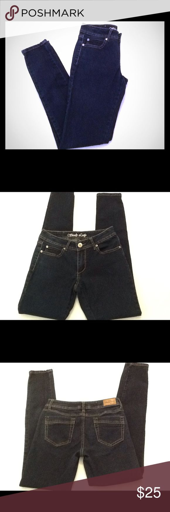 "Shady Lady Haute Attitude Denim Jeans Shady Lady Haute Attitude Denim Jeans .  76% Cotton, 22% Polyester, 2% Spandex. Women's size 5. Inseam is 32"". Leg Opening is 5 1/2"". Shady Lady Jeans"
