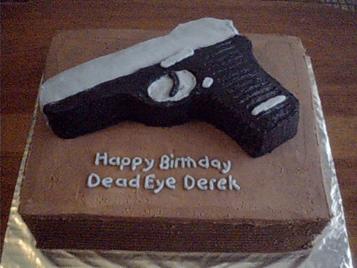 Best Cake Decorating Gun : 25+ best ideas about Gun cakes on Pinterest Groom cake ...