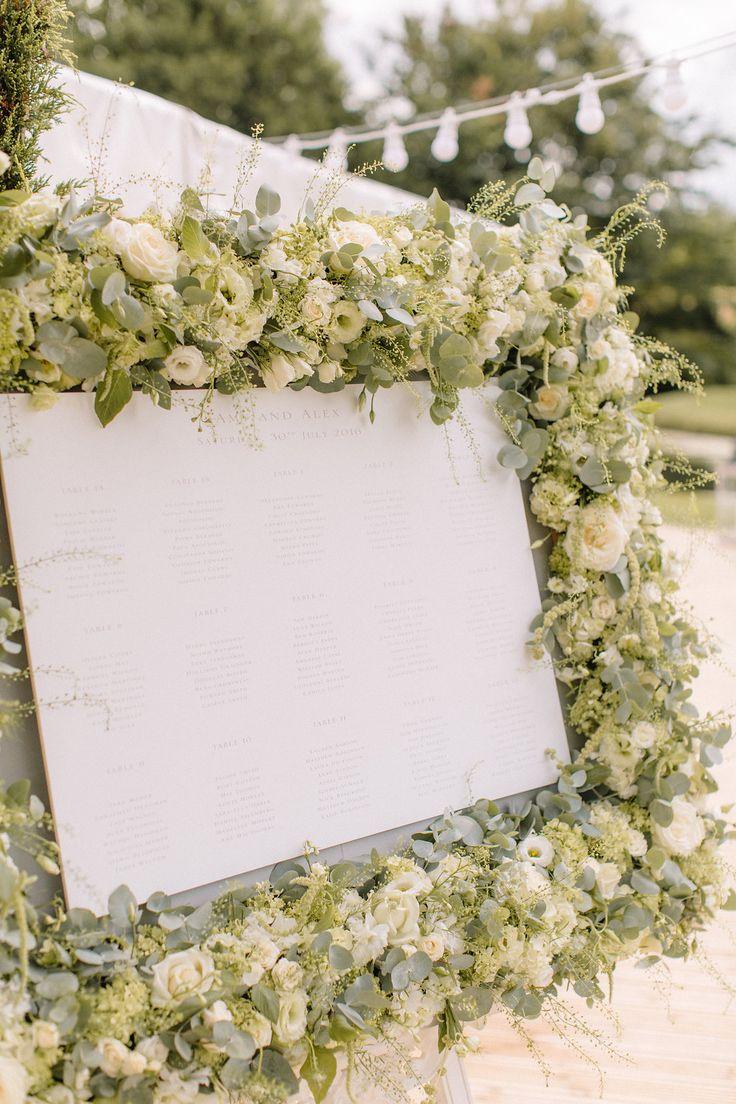Seating Plan Wedding Flowers Joanna Carter Wedding Flowers Oxford Oxfordshire Buckinghamshire Berkshire London