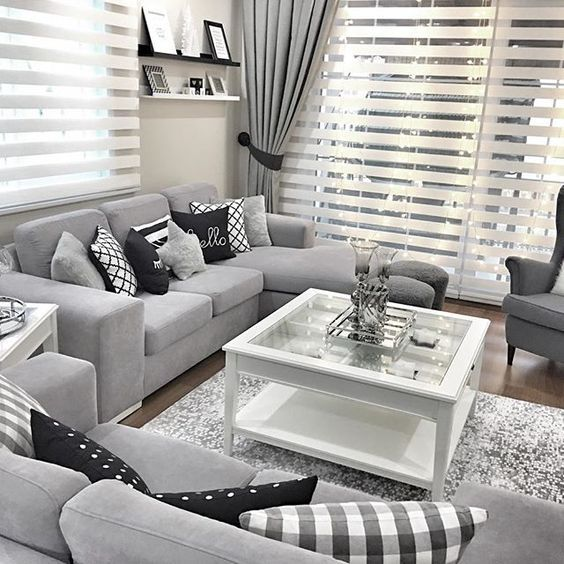 find this pin and more on dekorasyon grey lovers modern home grey living room with white and black accents - Black And White Chairs Living Room