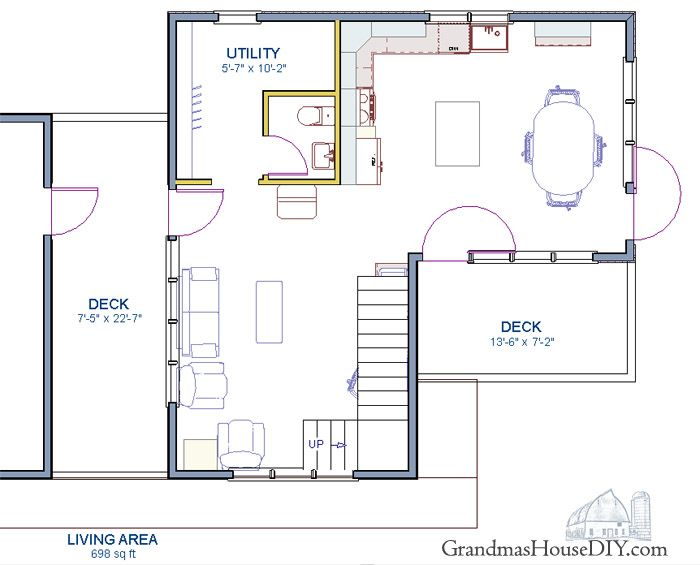 83 Best Images About Free House Plans - Grandma'S House Diy On