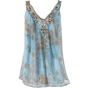 Hypnotic Print Top - New Age & Spiritual Gifts at Pyramid Collection
