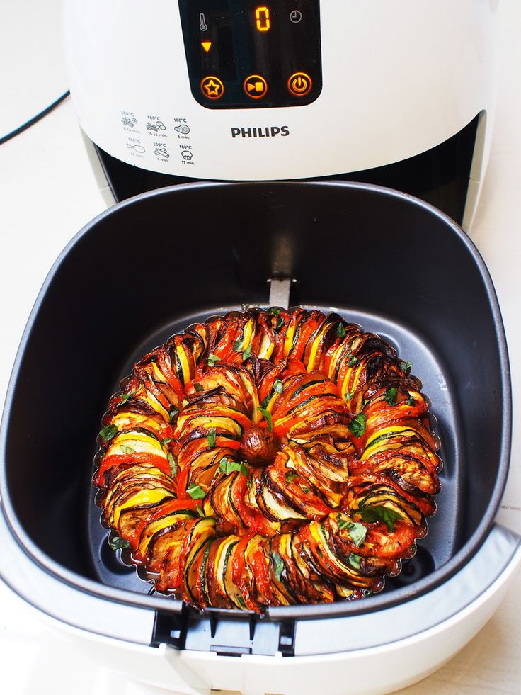 Philips Airfryer review and recipes - Ratatouille and Blueberry Lemon Muffins