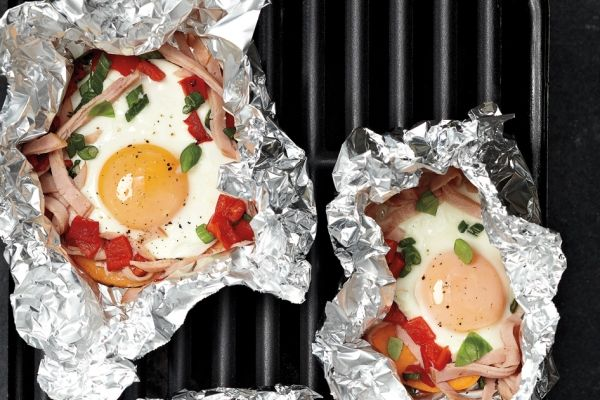 Barbecue Breakfast Packets #EGGs