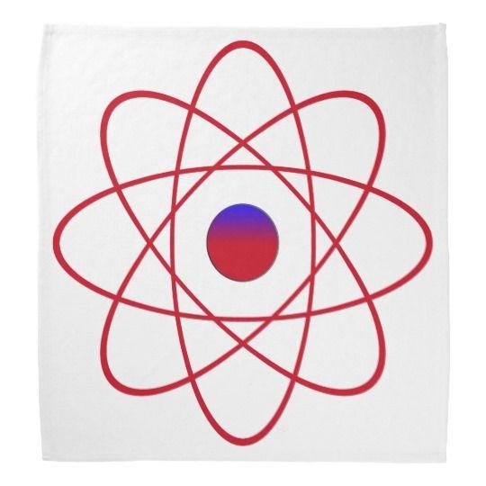 #zazzle #Atom #Bandana #atom #atomic #head #gift #giftidea
