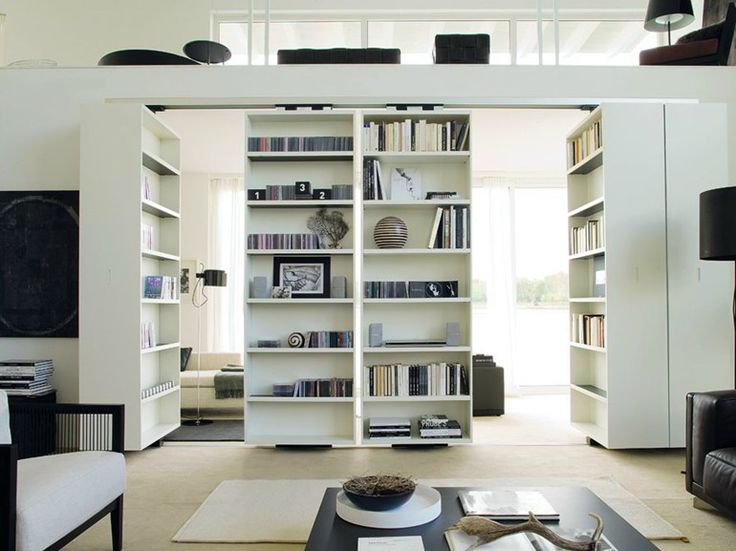 Download the catalogue and request prices of Vista | bookcase by Albed By Delmonte, divider swivel bookcase design Massimo Luca, Vista collection
