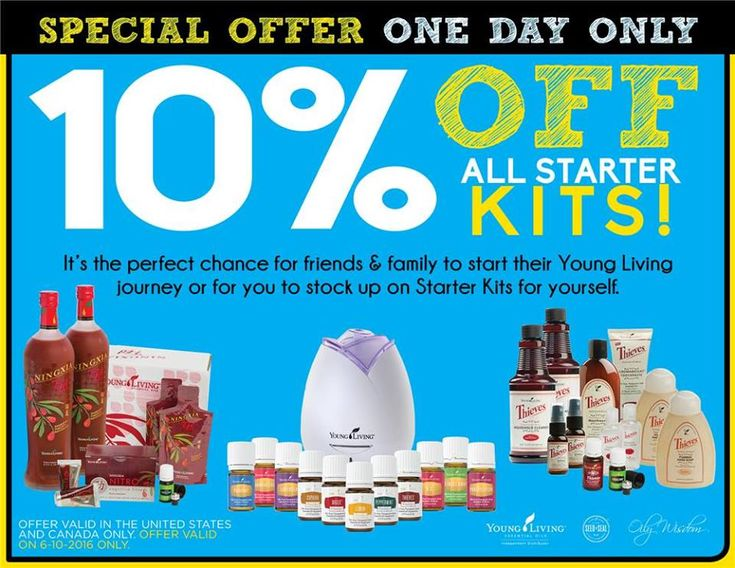 June 10th Only 2016 #EssentialOils #YoungLiving