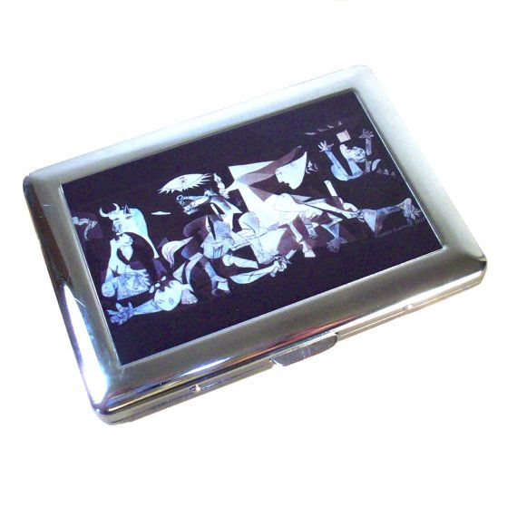 Picasso Guernica cigarette case by GelertDesign on Etsy, £7.00