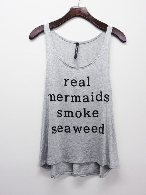 Real Mermaids Smoke Seaweed Tank Top