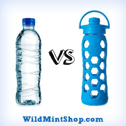 plastic vs reusable water bottles The bottle features a solid plastic top and base, but the middle is a flexible plastic that can be compressed when it's not filled with water the hard plastic gives it good structure that is easy to slide in and out of a backpack, and it packs down small while weighing only 33 ounces in the 1-liter size.